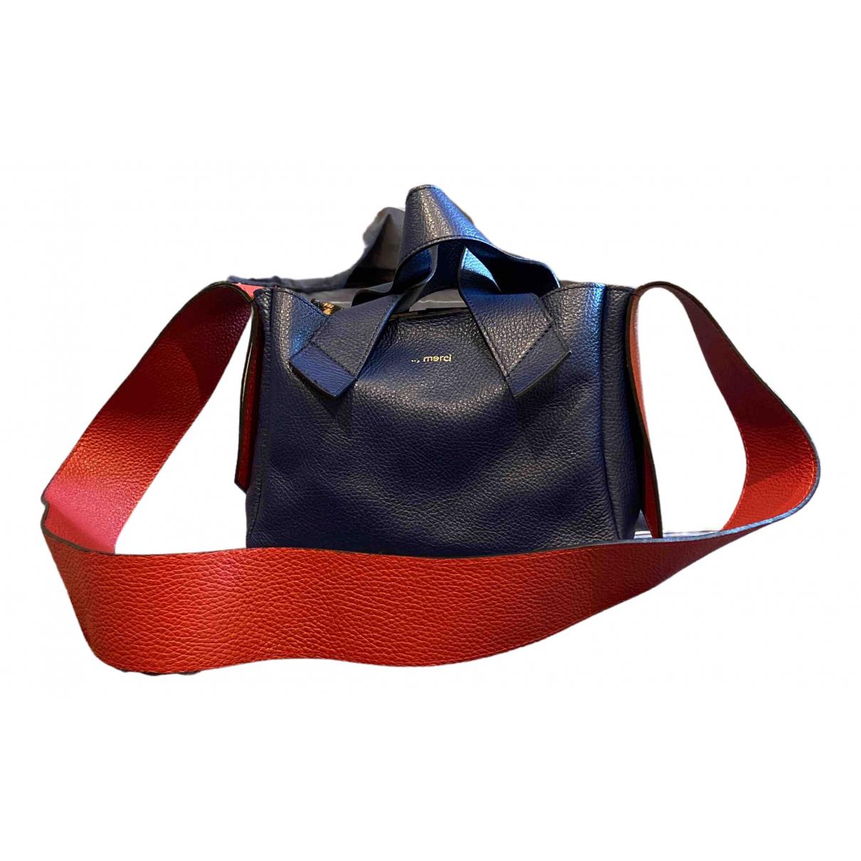 Merci \N Blue Leather handbag for Women \N