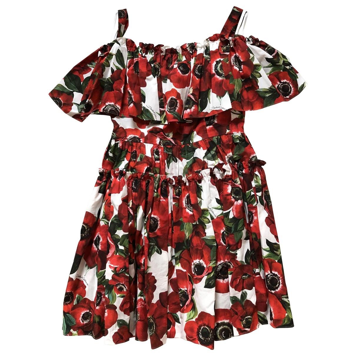 Dolce & Gabbana \N Red Cotton dress for Women 44 IT