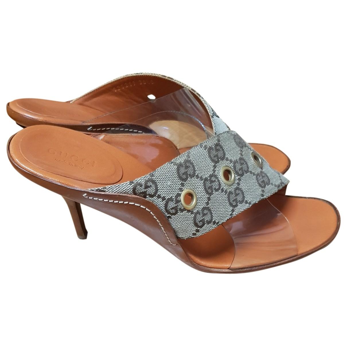 Gucci \N Brown Cloth Sandals for Women 38.5 EU