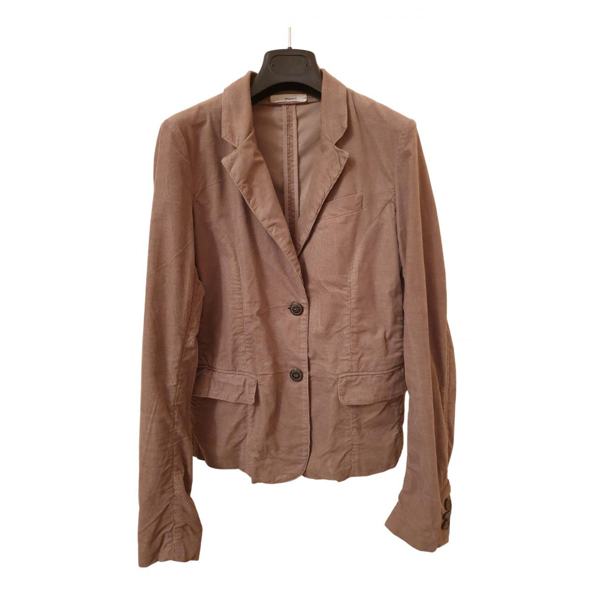 Merci \N Beige Velvet jacket for Women 40 FR