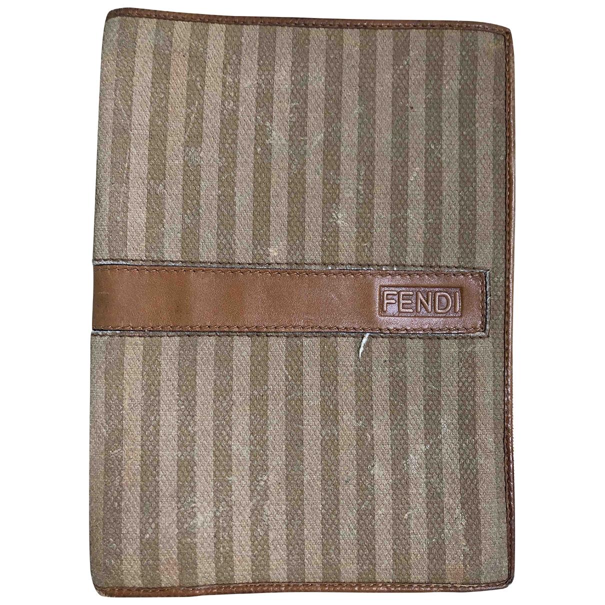 Fendi \N Beige Cloth wallet for Women \N