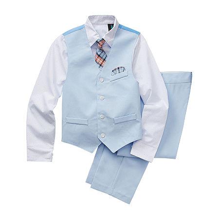Steve Harvey Little & Big Boys 4-pc. Suit Set, 6 , Blue