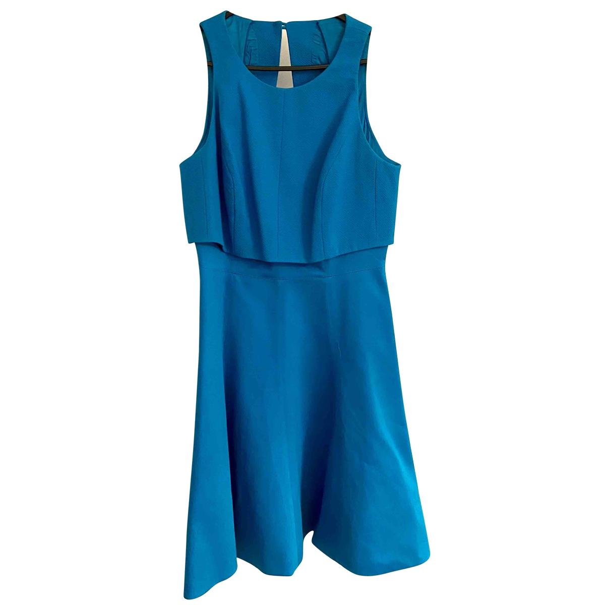 Karen Millen \N Blue Cotton dress for Women 10 UK