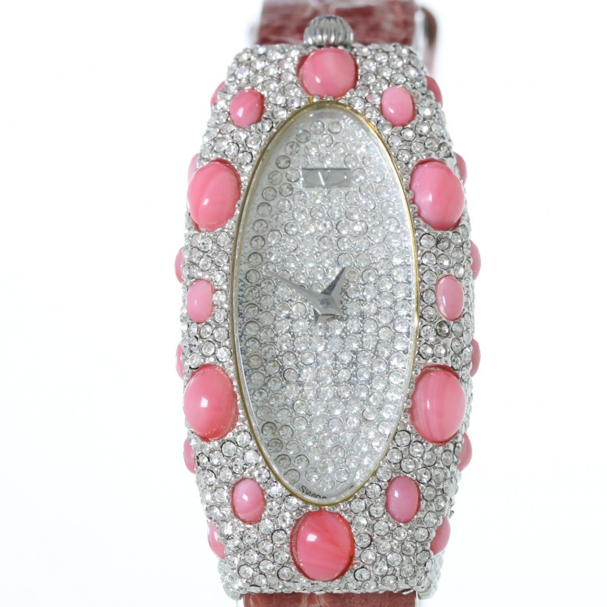 Valentino Garavani \N Pink Steel watch for Women \N