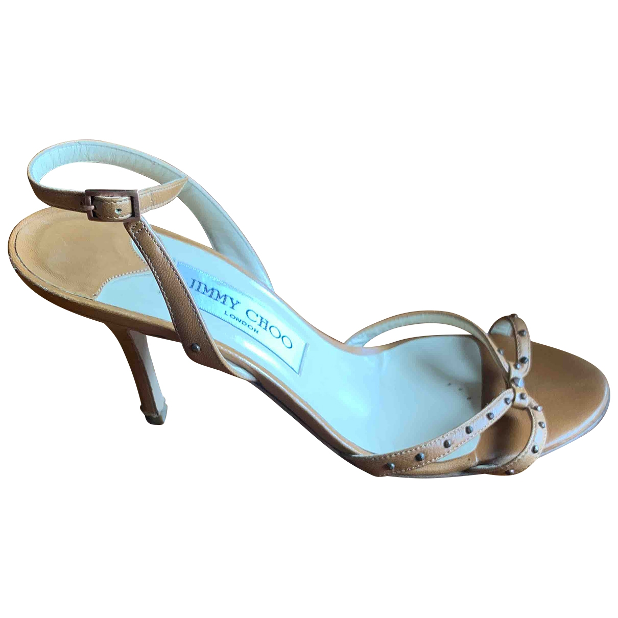Jimmy Choo \N Camel Leather Sandals for Women 37.5 EU