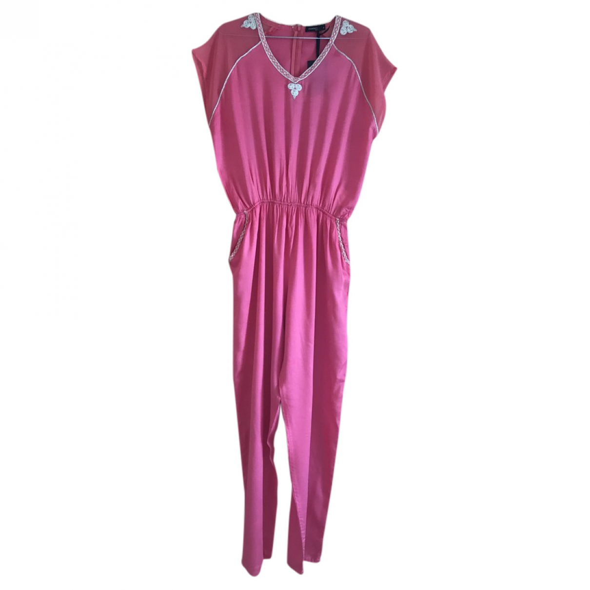 Non Signé / Unsigned \N Pink jumpsuit for Women 40 FR