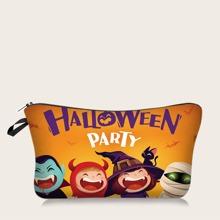 1pc Halloween Cartoon Graphic Makeup Bag