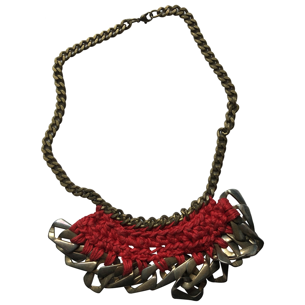 Non Signé / Unsigned \N Metallic Metal necklace for Women \N