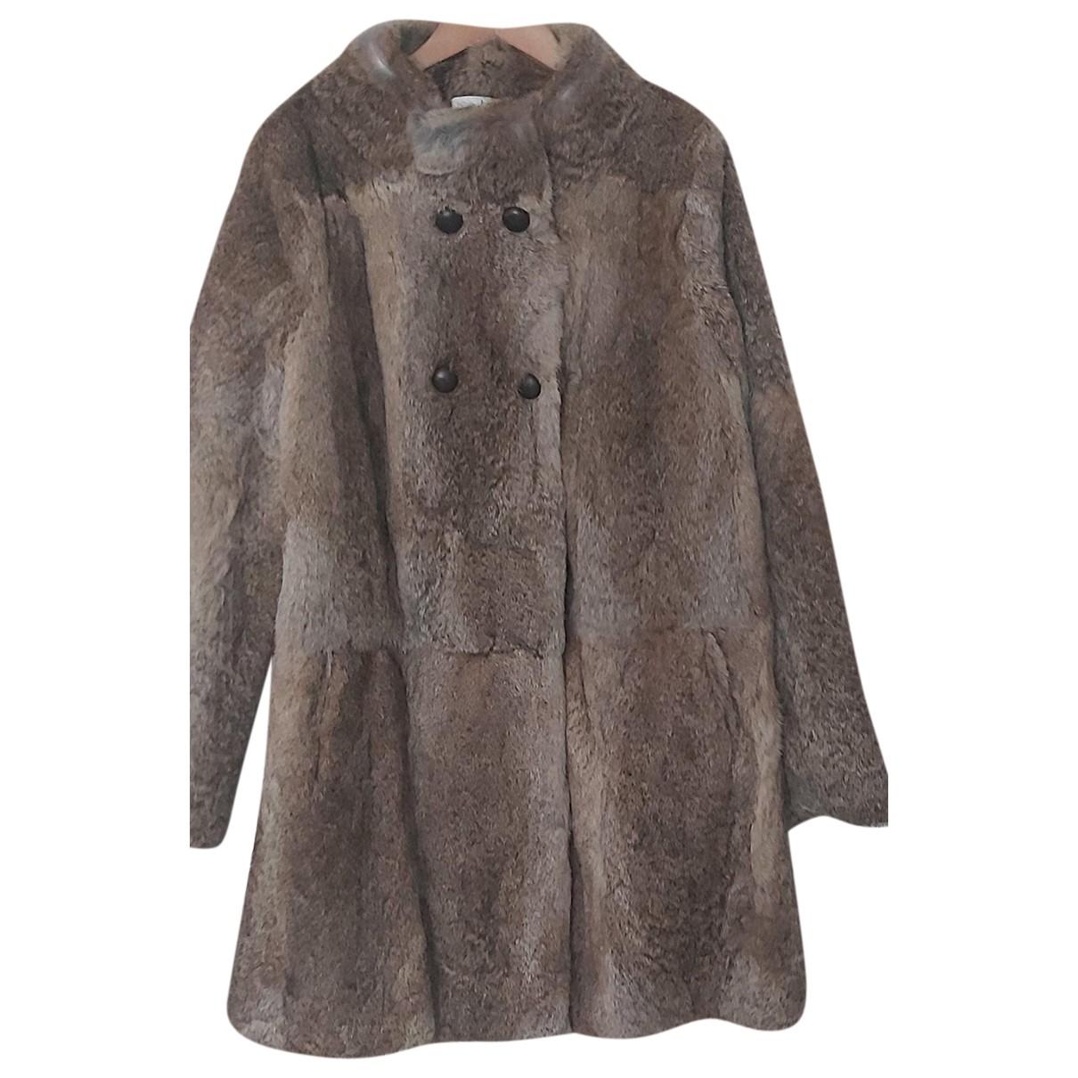 Ba&sh Fall Winter 2019 Beige Rabbit coat for Women 40 FR