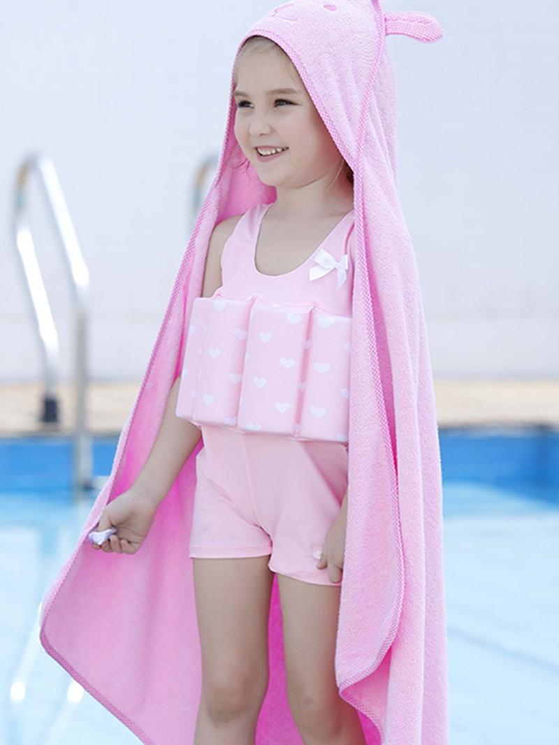 Ericdress One-Piece Plain Girls Buoyancy Swimsuit