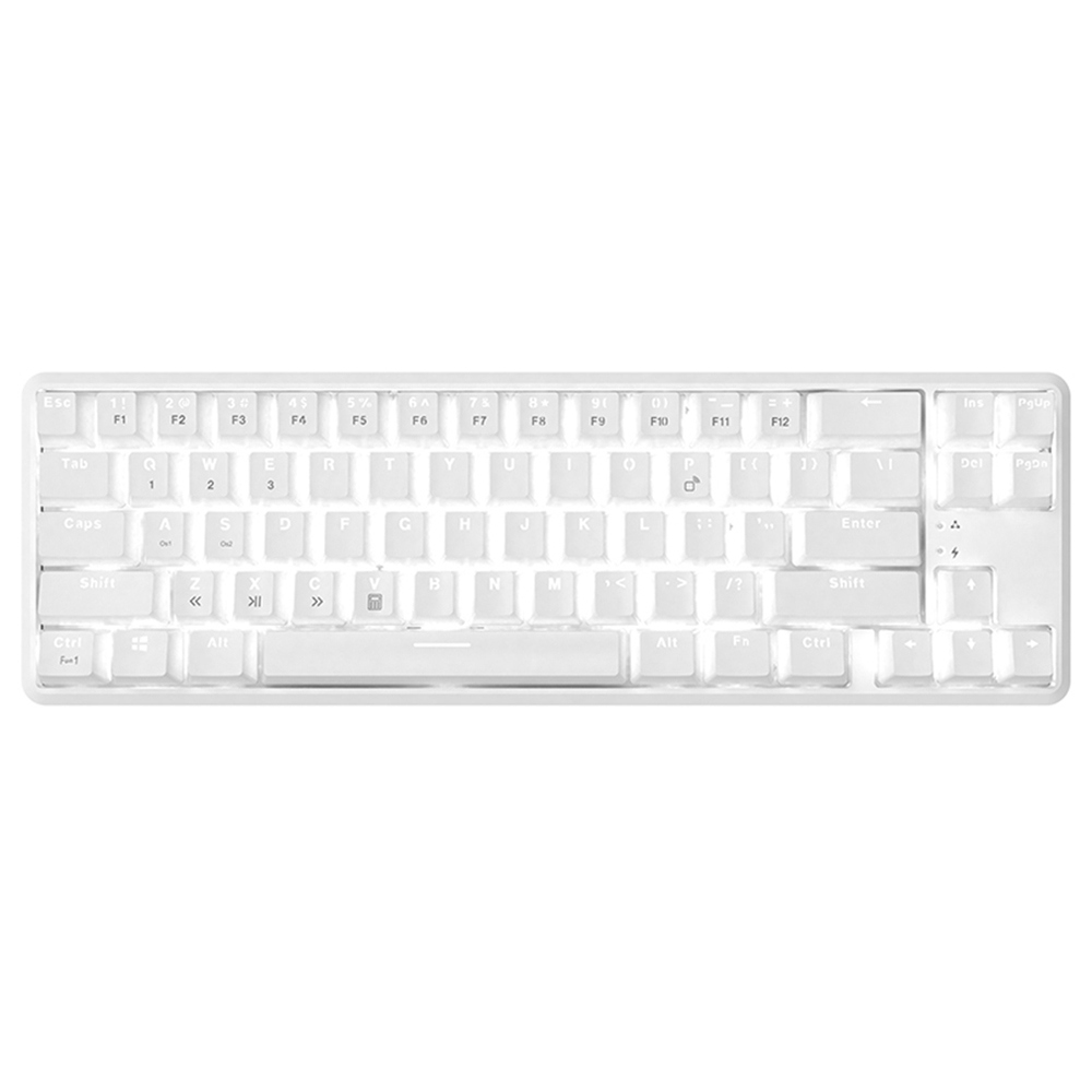 Ajazz K680T Backlight Mechanical Keyboard Red Switch White