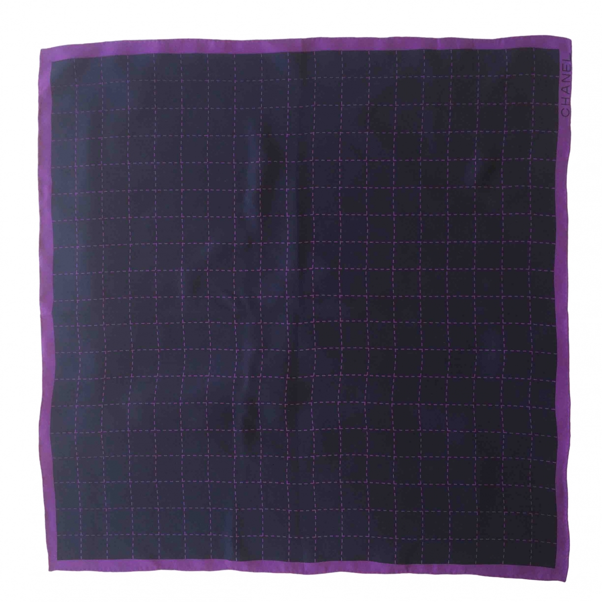 Chanel \N Navy Silk scarf for Women \N