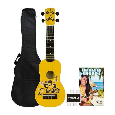 Rise by Sawtooth Beginner's Ukulele Kit, One Size , Yellow