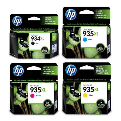 HP 934XL 935XL Original Ink Cartridge Combo High Yield BK/C/M/Y