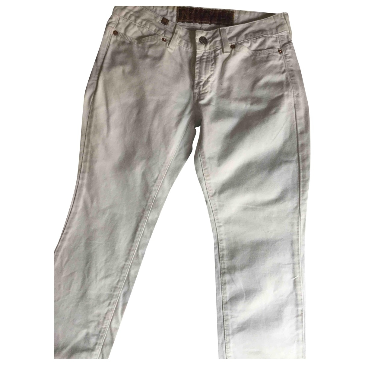 Notify \N White Cotton Trousers for Women 36 FR