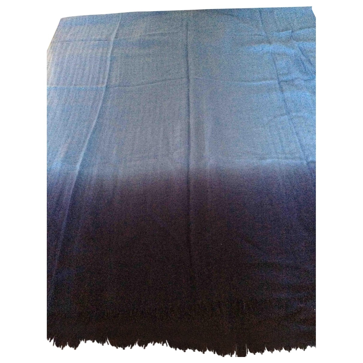 Non Signé / Unsigned \N Blue Cashmere scarf for Women \N
