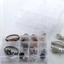1pc 14 Grid Plastic Jewelry Box