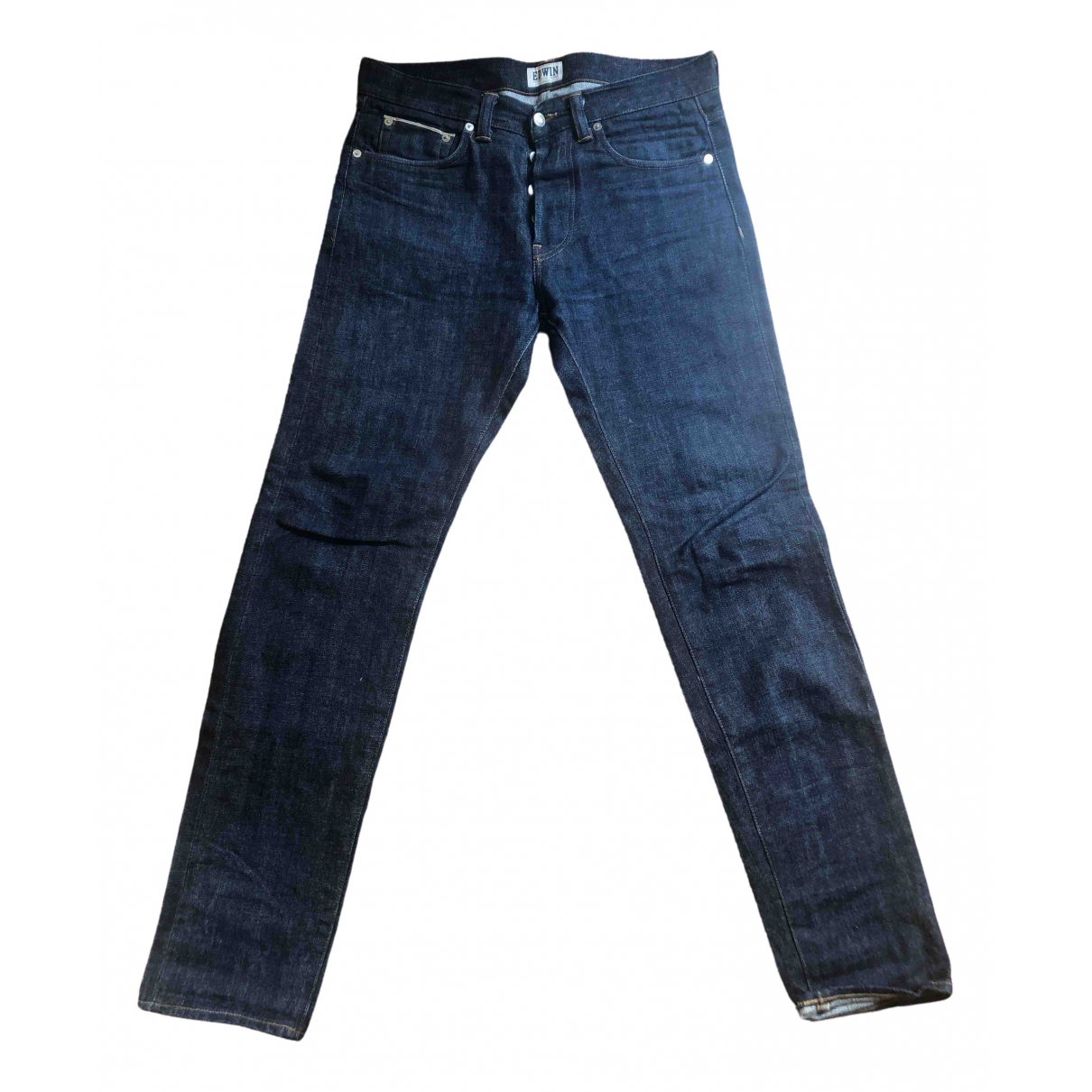 Edwin \N Blue Cotton Jeans for Men 30 US