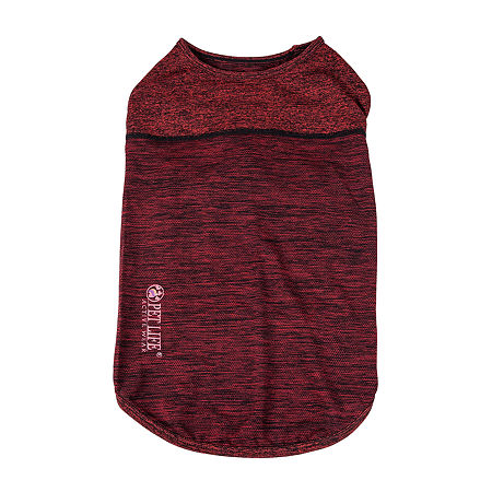 Pet Life  Active 'Aero-Pawlse' Heathered Quick-Dry and 4-Way Stretch Performance Dog Tank Top T-Shirt, X-large , Red