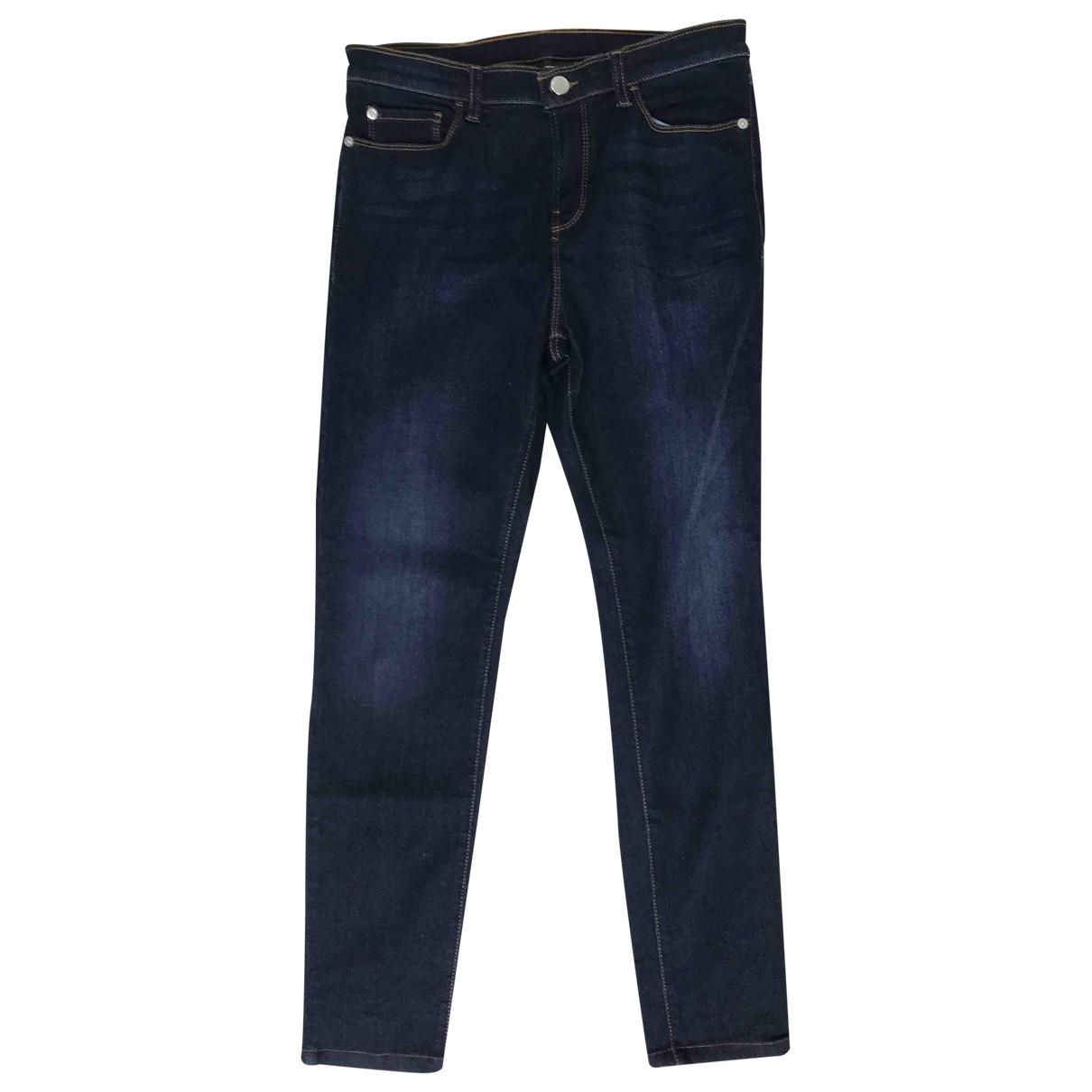 Emporio Armani \N Blue Cotton - elasthane Jeans for Women 30 US