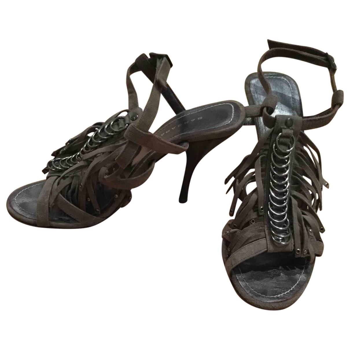 Barbara Bui \N Grey Suede Heels for Women 37 EU