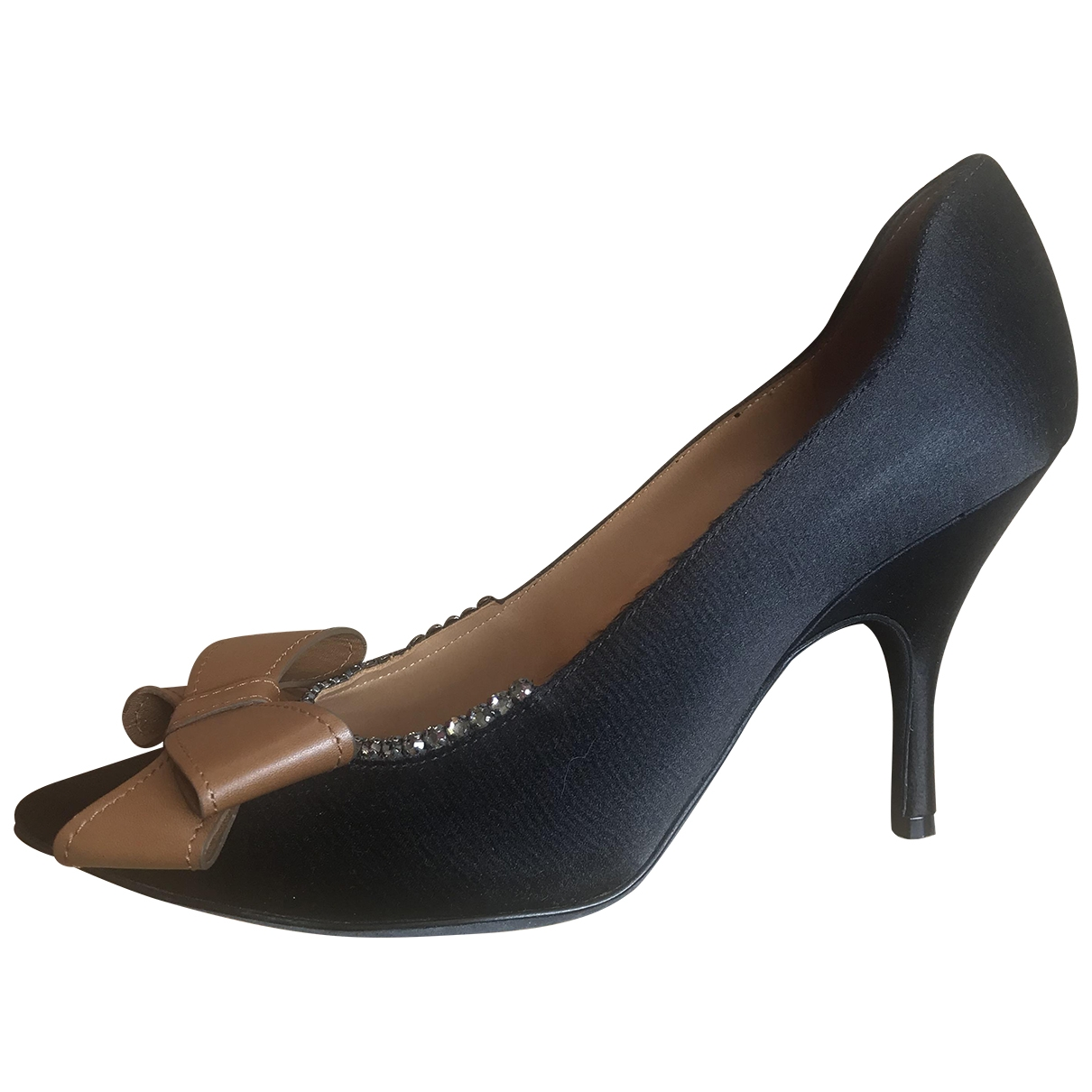 Lanvin \N Black Cloth Heels for Women 38 EU