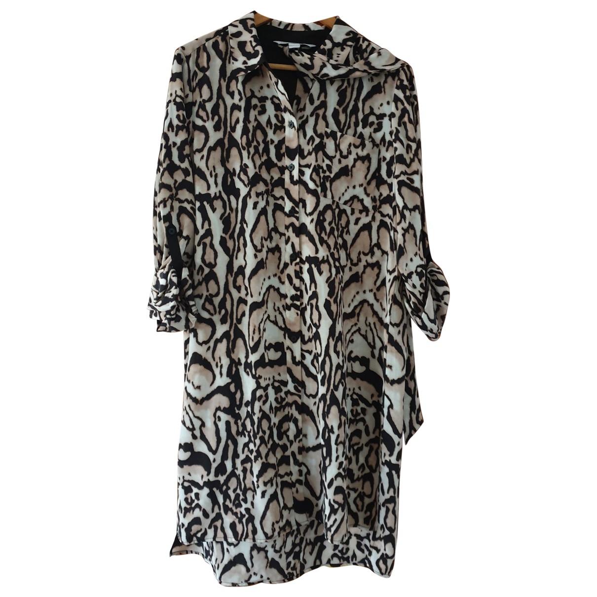 Diane Von Furstenberg \N Multicolour Silk dress for Women 14-16 US