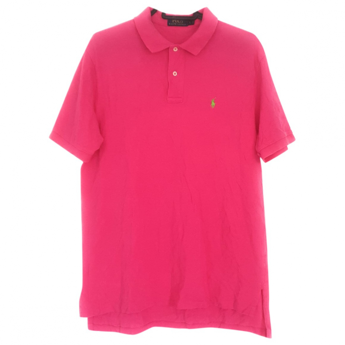 Polo Ralph Lauren Polo classique manches courtes Pink Cotton Polo shirts for Men L International