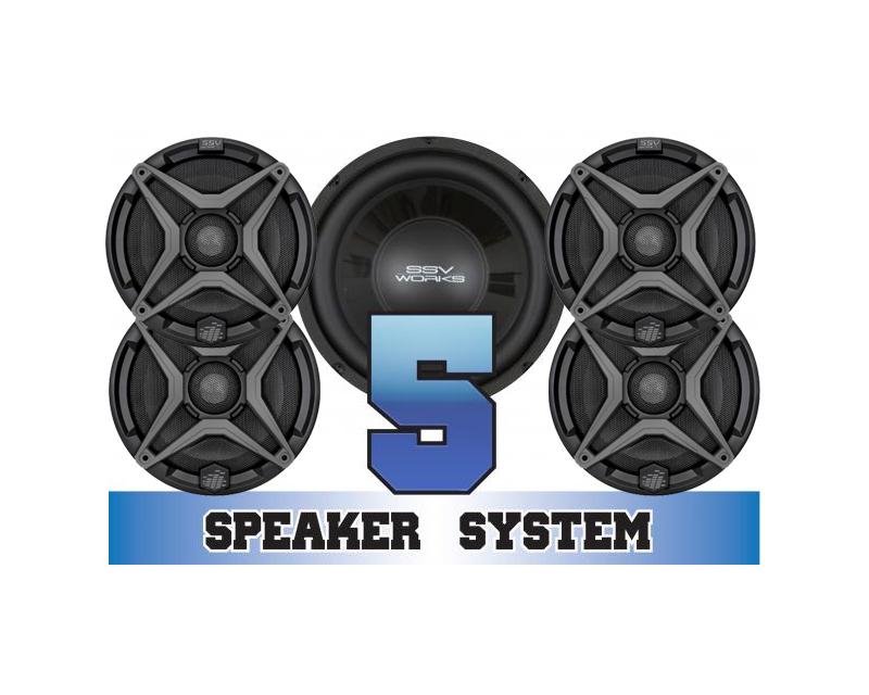 SSV Works COMMANDER-5 Complete 5 Speaker System Can-Am Maverick Max 1000R X mr 2017