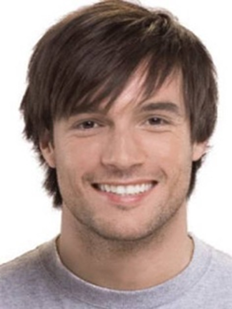 Ericdress Men's Wig Short Straight Synthetic Hair Capless Wigs