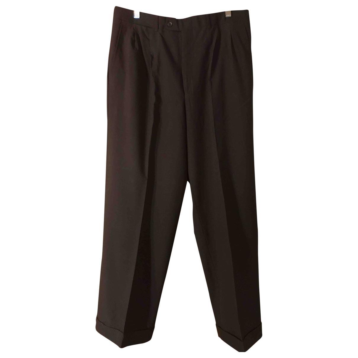 Ermenegildo Zegna \N Black Wool Trousers for Men 50 IT
