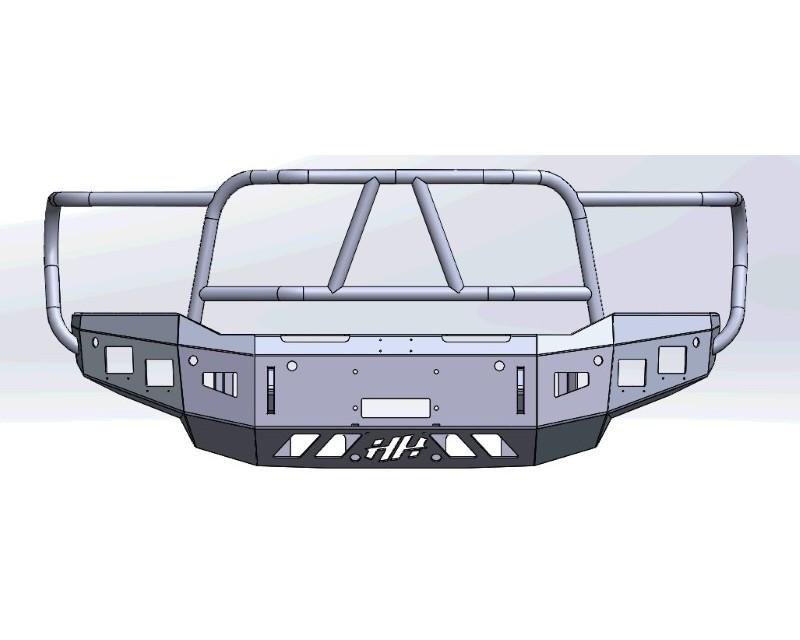 Hammerhead Armor 600-56-0958 RAM Front Winch Bumper For 20-20 Dodge RAM 2500-F-5500 X Series Black Steel