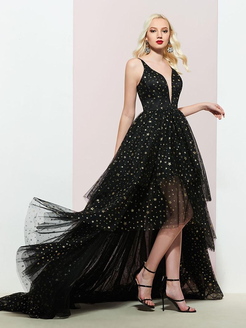 Ericdress Asymmetry Sleeveless A-Line Prom Dress