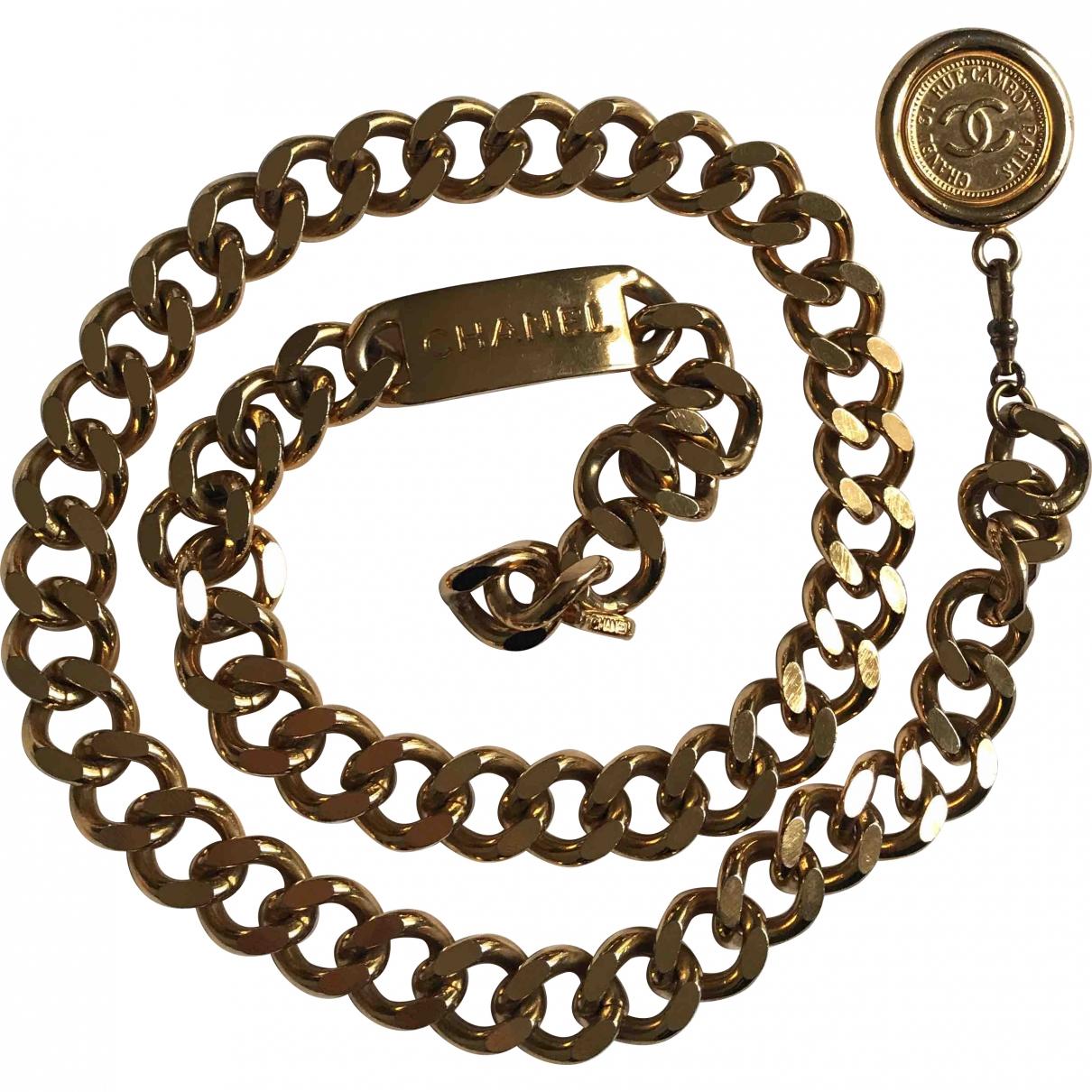 Chanel \N Gold Metal belt for Women 80 cm
