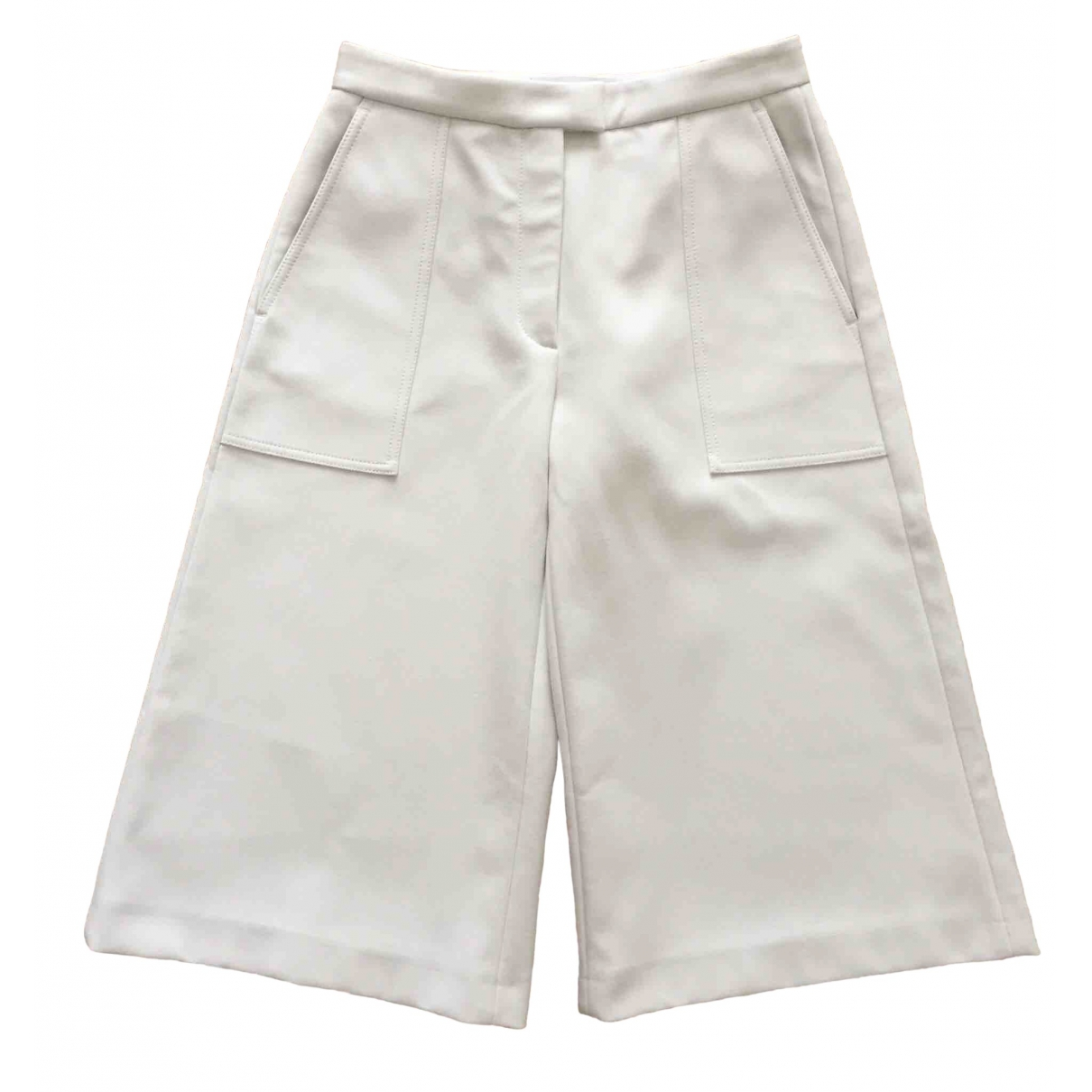 Msgm \N White Cotton Trousers for Women 34 FR