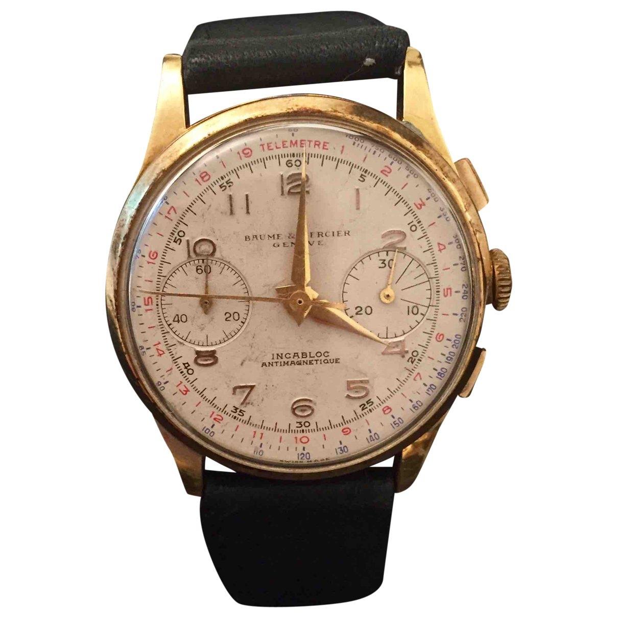Baume Et Mercier \N White Yellow gold watch for Men \N