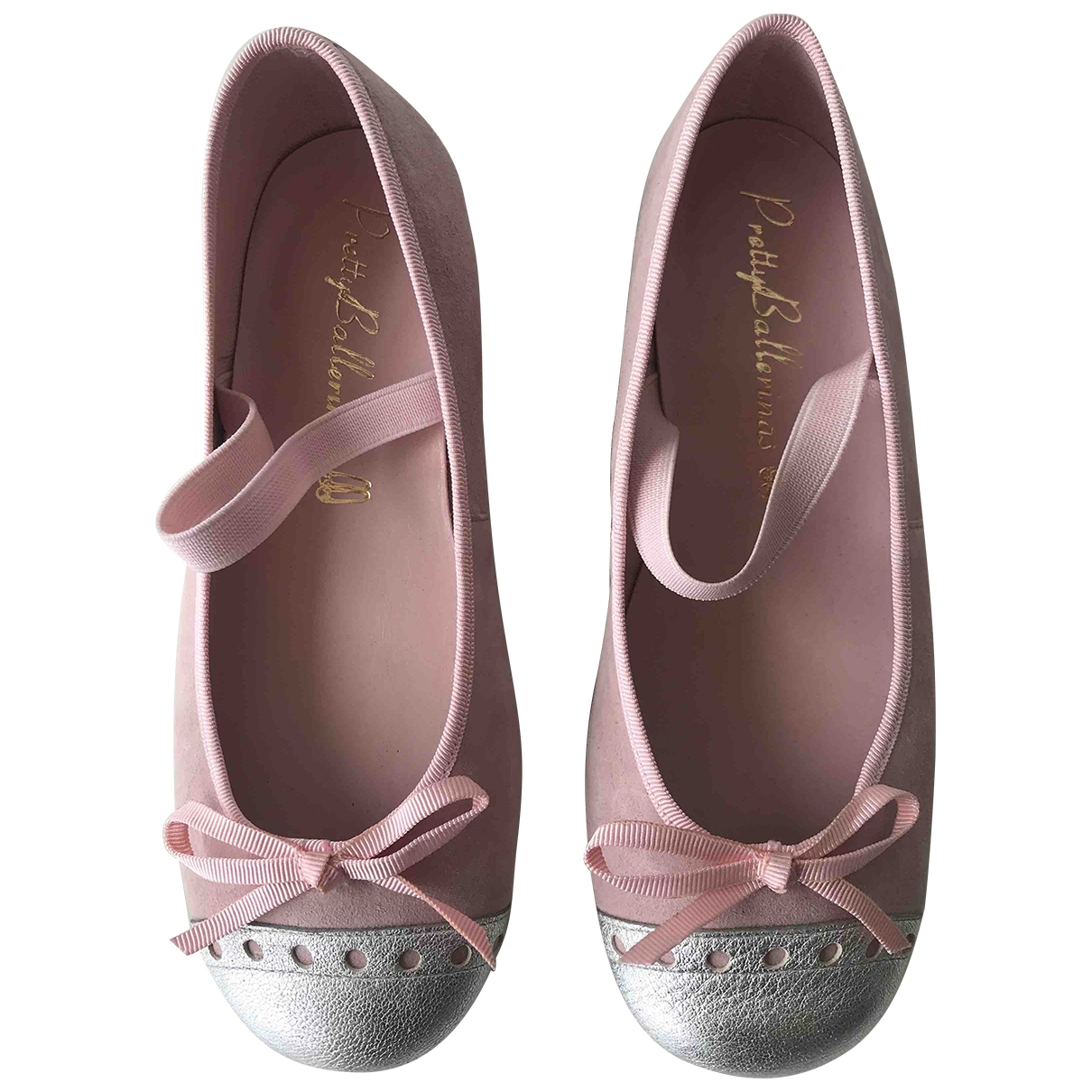 Pretty Ballerinas \N Pink Suede Ballet flats for Kids 32 EU
