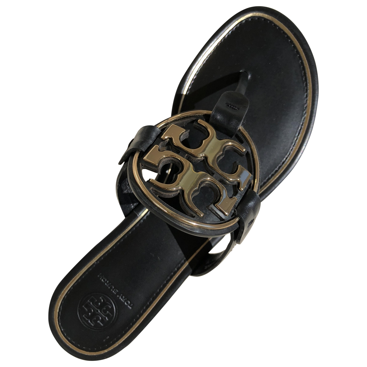 Tory Burch \N Black Leather Sandals for Women 6.5 US