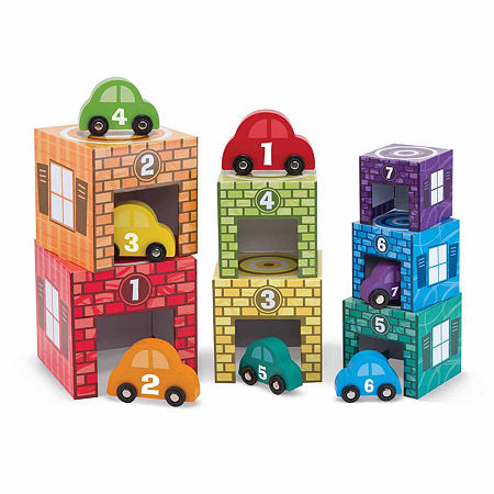 Melissa & Doug Nesting & Sorting Garages & Cars, One Size , Multiple Colors