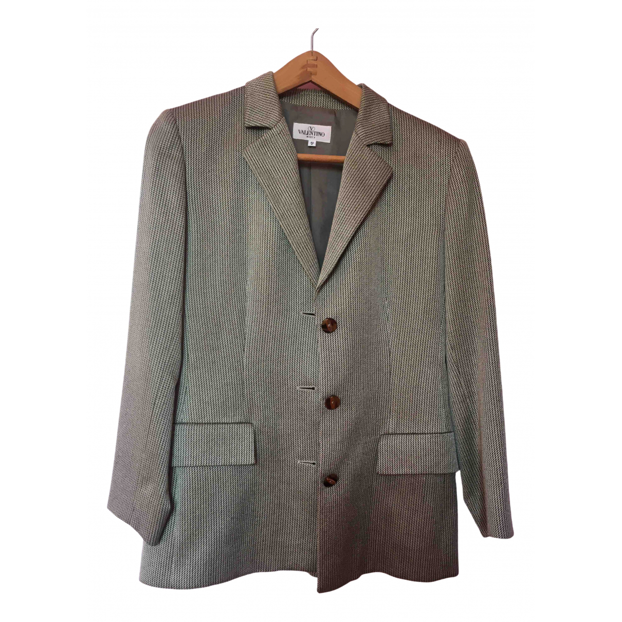 Valentino Garavani \N Grey Wool jacket for Women 42 IT