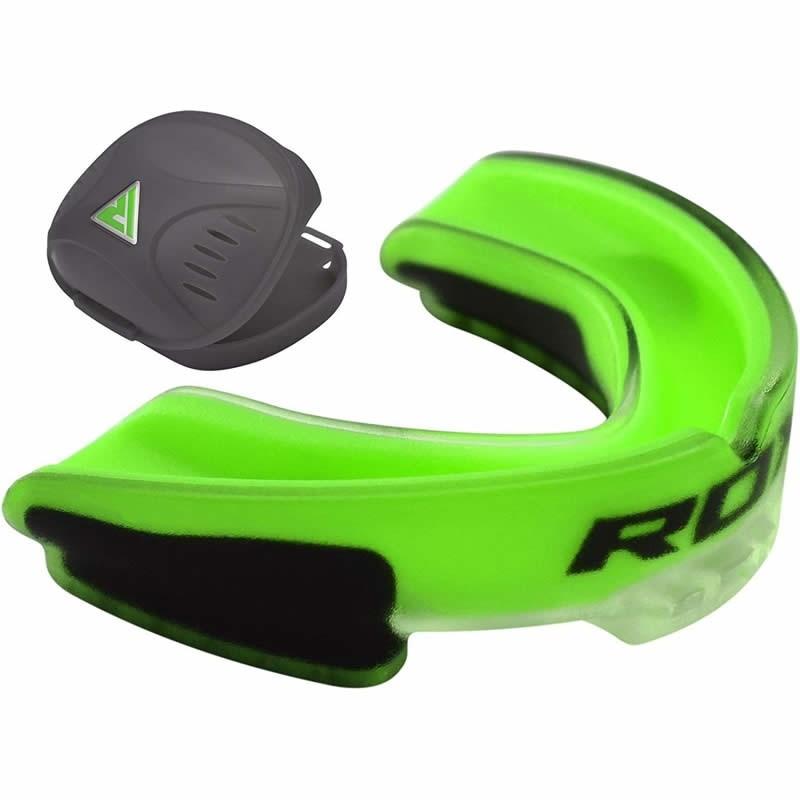 RDX 3GN Green Non Latex Mouth Guard Gum Shield