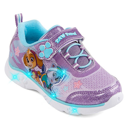 Nickelodeon Paw Patrol Athletic Toddler Girls Hook and Loop Sneakers, 12 Medium, Purple