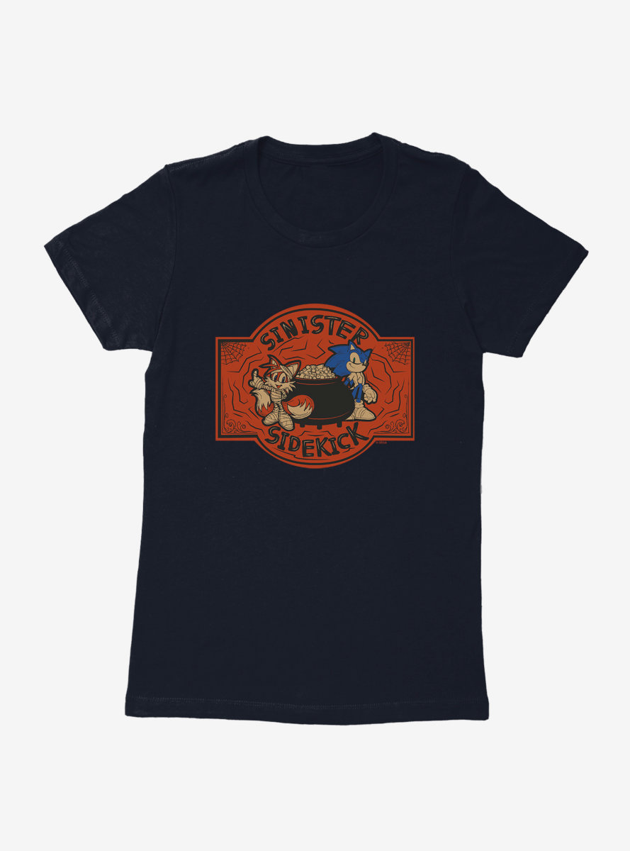 Sonic The Hedgehog Halloween Sinister Sidekick Womens T-Shirt