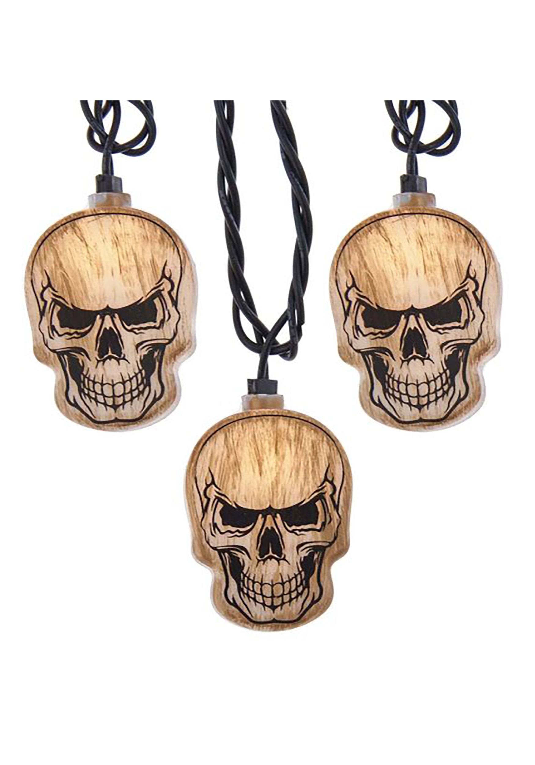 10 Light Skull Head String Light Set
