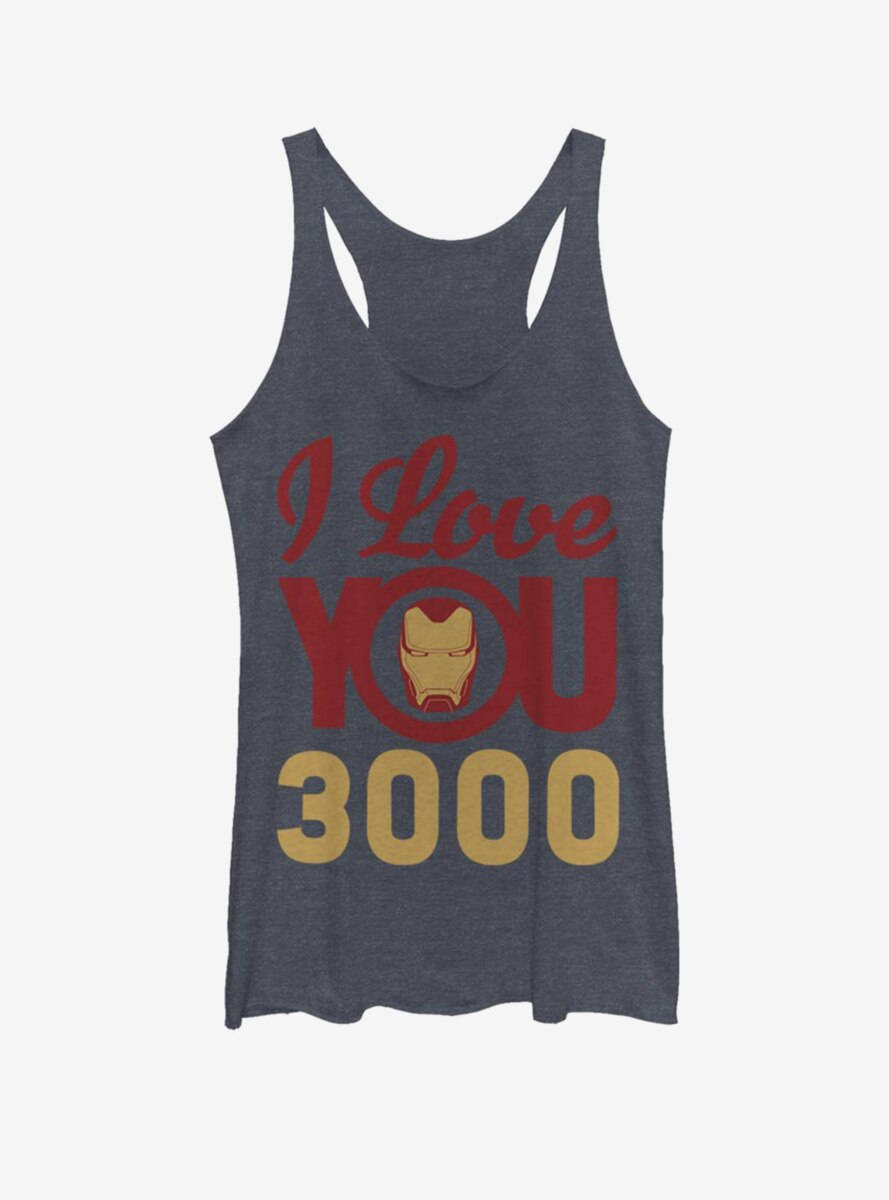 Marvel Iron Man Love You 3000 Icon Face Womens Tank Top