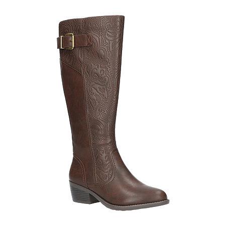 Easy Street Womens Arwen Plus Booties Block Heel, 9 1/2 Medium, Brown