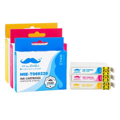 Compatible Epson Stylus CX7000F Color Ink Cartridges C/M/Y 3-Pack Combo by Moustache