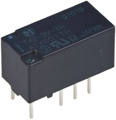 Panasonic , 3V dc Coil Non-Latching Relay DPDT, 7.5A Switching Current PCB Mount