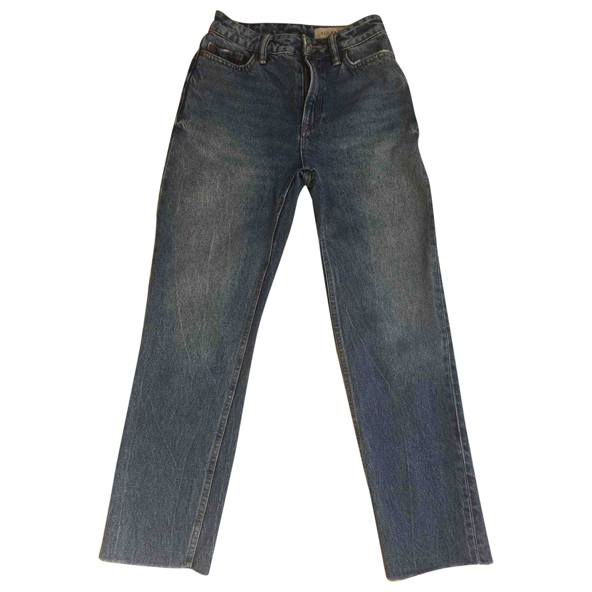 All Saints \N Blue Cotton Jeans for Women 24 US