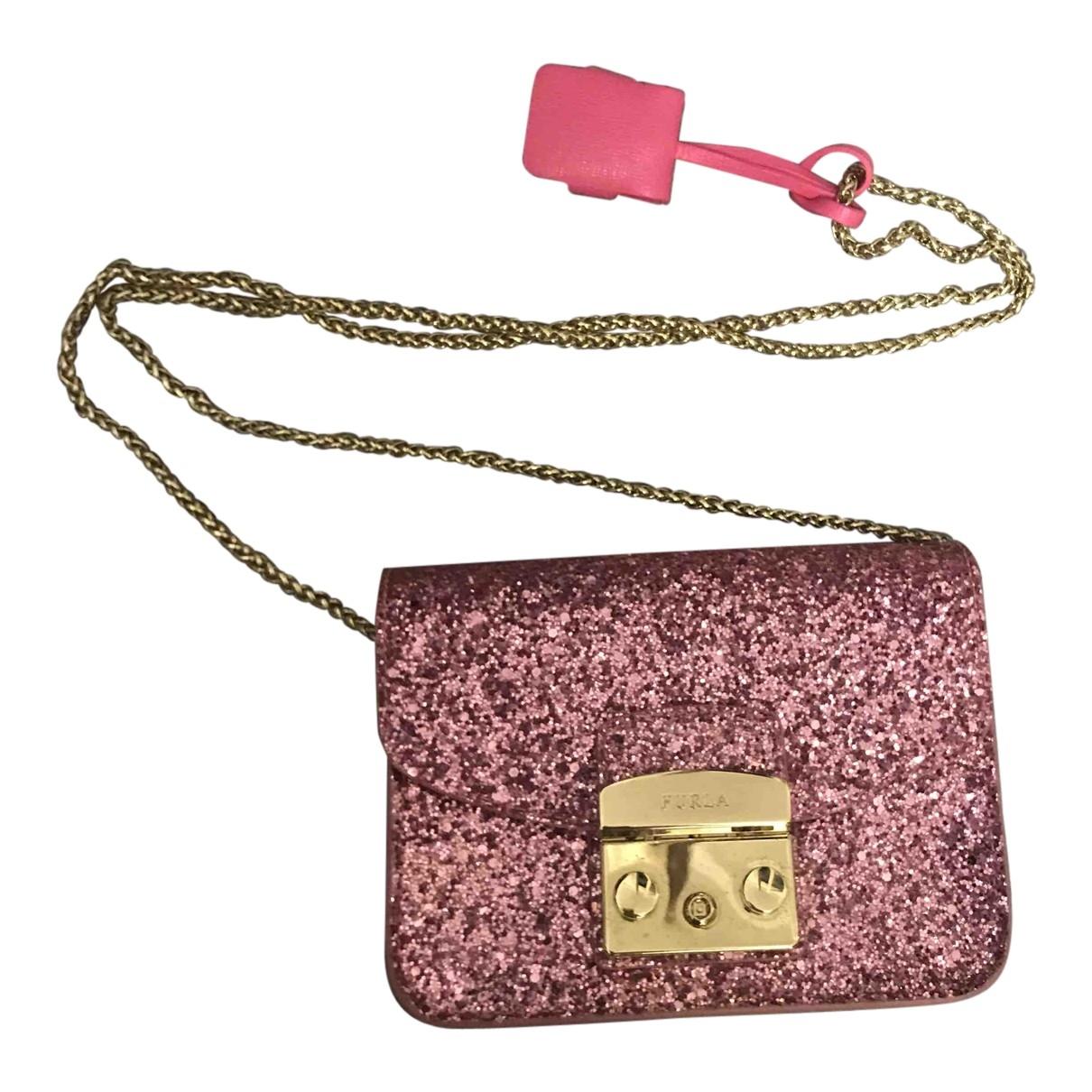 Furla Metropolis Pink Glitter handbag for Women \N